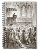 Calvin Preaching His Farewell Sermon In Expectation Of Banishment Spiral Notebook