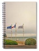 Camaret Sur Mer, Brittany, France, Bicyclist Spiral Notebook
