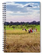 Cambodia Field Workers Harvesting Rice Spiral Notebook