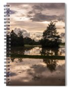 Cambodian Countryside Rice Fields Reflection Spiral Notebook