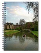 Cambridge Clare College Stream Boat And Boys Spiral Notebook
