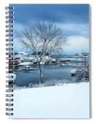 Camden Harbor In The Snow Spiral Notebook