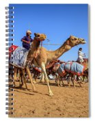 Camel Racing In Dubai Spiral Notebook