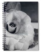 Camellia Back And White Spiral Notebook