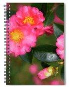 Camellia Pink Spiral Notebook
