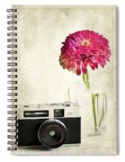Camera And Flowers Spiral Notebook