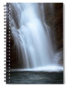 Cameron Falls In Waterton Lakes National Park Of Alberta Spiral Notebook
