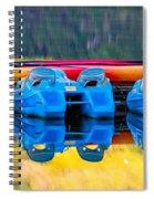 Cameron Lake Paddle Boats Spiral Notebook