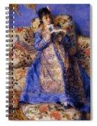 Camille Monet Reading 1872 Spiral Notebook