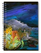 Camogli By Night In Italy Spiral Notebook