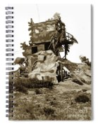 Camouflage Observation Tower Near Asilomar And The Point Pinos Lighthouse 1941 Spiral Notebook
