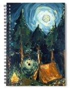 Camp At Night Spiral Notebook