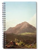 Camp Fire In The Maine Wilderness Spiral Notebook