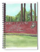 Camp Lejeune Welcome Spiral Notebook