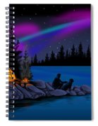 Camping With Dog Spiral Notebook