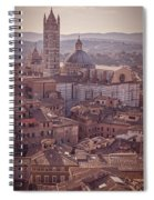 Campanile And Cathedral In Siena Italy Antique Matte Spiral Notebook
