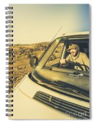 Camper Man On Adventure Spiral Notebook