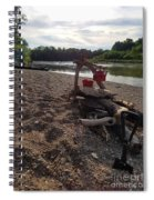 Campfire Cooking Soon - Indiana Canoeing Spiral Notebook