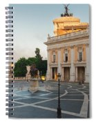 Campidoglio Square In Rome Spiral Notebook