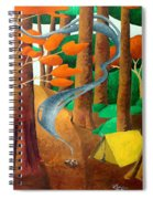 Camping - Through The Forest Series Spiral Notebook