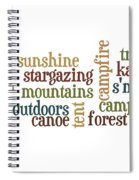 Camping Subway Art Spiral Notebook