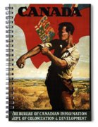Canada - Canadian Pacific Railway - Flag - Retro Travel Poster - Vintage Poster Spiral Notebook