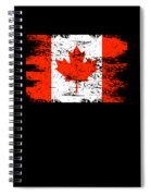 Canada Flag Gift Country Patriotic Travel Shirt Americas Light Spiral Notebook