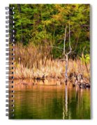 Canada Goose Couple - Paint Spiral Notebook