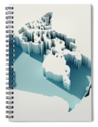 Canada Simple Intrusion Map 3d Render Spiral Notebook