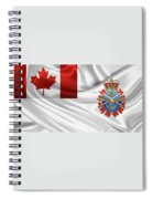 Canadian Armed Forces  -  C A F  Badge Over Flag Spiral Notebook