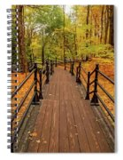 Canadian Autumnal Walkway Spiral Notebook