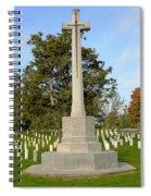 Canadian Cross Of Sacrifice Spiral Notebook