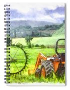 Canadian Farmland With Tractor Spiral Notebook