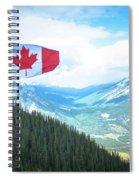 Canadian Flag Over Banff Spiral Notebook
