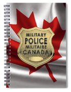 Canadian Forces Military Police C F M P  -  M P Officer Id Badge Over Canadian Flag Spiral Notebook