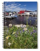 Canadian Harbor On A Sunny Day Spiral Notebook