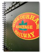 Canadian Heritage Train Spiral Notebook