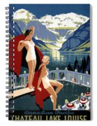 Canadian Pacific - Chateau Lake Louise - Canadian Rockies - Retro Travel Poster - Vintage Poster Spiral Notebook