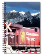 Canadian Pacific Trail Slices Through The Rockies Spiral Notebook