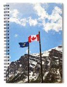 Canadian Rockies - Digital Painting Spiral Notebook