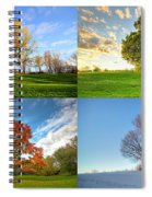 Canadian Seasons Spiral Notebook