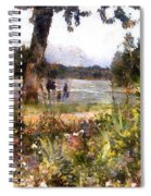 Canadian Sunday Out By The Lake Spiral Notebook
