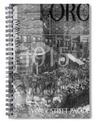 Canadian Wwi Nostalgic Collage Spiral Notebook