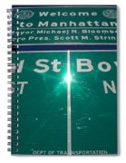 Canal And Bowery Spiral Notebook