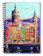 Canal Of Amsterdam, Storm Is Comming Spiral Notebook