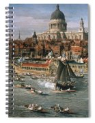 Canaletto: Thames, 18th C Spiral Notebook