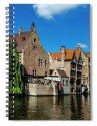 Canals Of Bruges Spiral Notebook