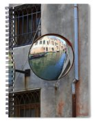 Canals Reflected In Mirrors In Venice Italy Spiral Notebook