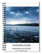 Canandaigua Lake Winter Spiral Notebook