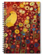 Canary In Red Spiral Notebook